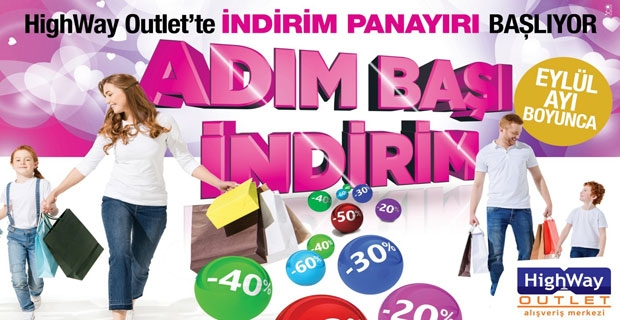 HIGHWAY'DE ADIM BAŞI İNDİRİM FIRSATI