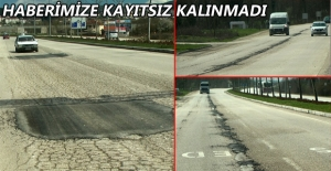 TEPKİ ÇEKEN YOL ONARILDI