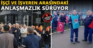 DEV ŞİRKETİN İŞÇİLERİ GREVE...